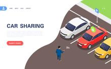 Car Sharing Concept Banner. A ...