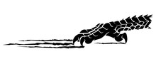 Dragon Rip Claw Silhouette Des...