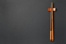 Top View Of Wooden Chopsticks ...