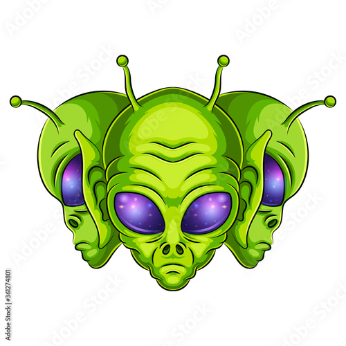 Tela Alien mascot logo vector illustration