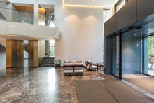 Interior Of A Luxury Hotel Lob...