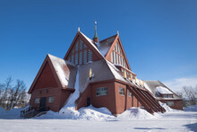 Kiruna Church With Snow In Is ...