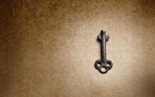 Isolated Antique Key