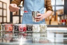 Chef Mixing Different Ice Crea...