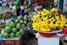 People In The Market In Daklak, Vietnam.