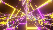 3D Rendering Of Yellow And Pur...