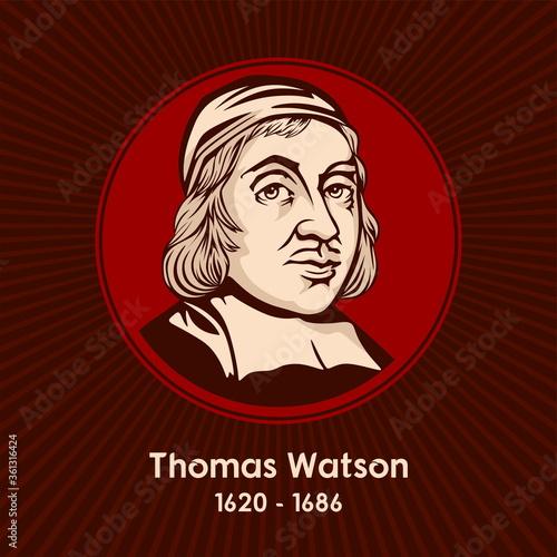 Thomas Watson (1620 - 1686) was an English, Nonconformist, Puritan preacher and author Wallpaper Mural