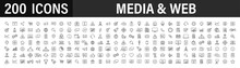 Set Of 200 Media And Web Icons...