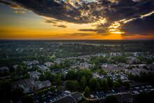Aerial Sunrise In Plainsboro P...