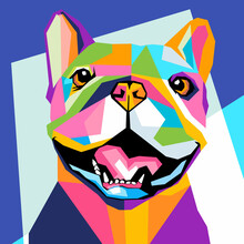 Elegant Pop Art Portrait Of Dog Fit For Wall Decoration Of Your Home