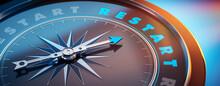 Dunkler Kompass Mit Lichtspiel -  Restart