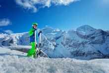 Happy Confident Boy With Ski S...