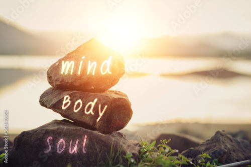 Concept body, mind, soul, spirit Fototapet
