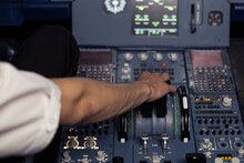 Young Pilot In The Aircraft In...