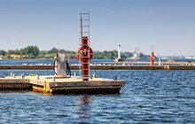 Bunkering Service Station For Small Motor Ships, Yachts And Boats