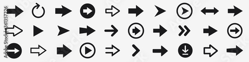 Arrow icons set Canvas-taulu