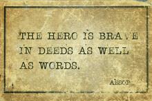 Hero Is Brave Aesop