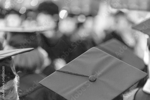 Group of students attend their school ceremony Canvas Print