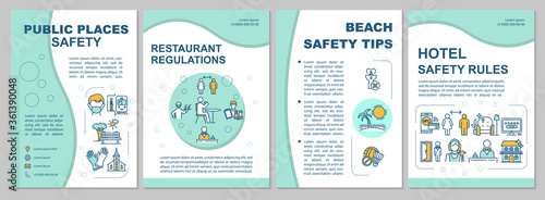 Photo Safety in public places brochure template