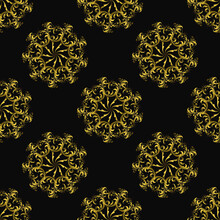 Seamless Pattern, Ornament Wit...