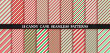Candy Cane Stripe Seamless Pat...