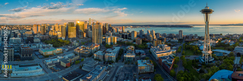 Seattle Cityscape Panorama Canvas