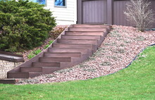 Curved Wooden Steps