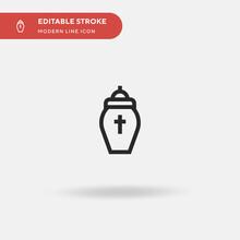 Urn Simple Vector Icon. Illust...
