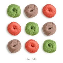 Pattern From Cotton Yarn Skeins