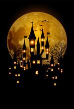 ハロウィン 城 月 ...