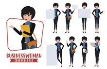 Business Woman Character Set. ...