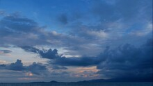 Rain Storm Sky With Clouds Mov...