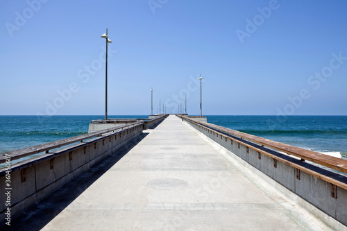 Empty pier at popular Venice beach in Los Angeles California. #361450687