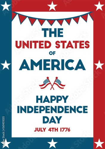 USA independence day poster.