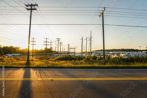 Fotografie, Obraz sunset over the road