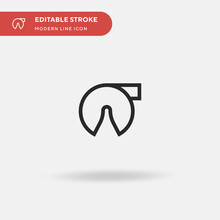 Fortune Cookie Simple Vector I...