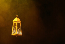 Decorative Lantern With Lit Ca...