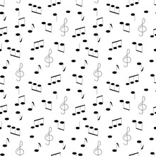 Music Notes And Treble Clef Ha...