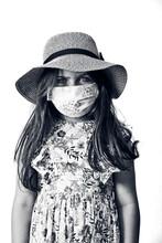 5 Year Old Girl Wearing A Sun ...