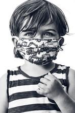Young Boy Wearing A Striped Sh...
