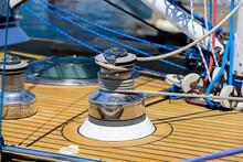 Marine Capstan Winch On Ship.