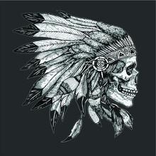 American Motorcycle Skull Nati...