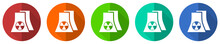Nuclear Power Plant Icon Set, ...