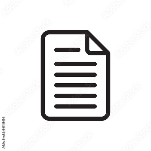 Fototapety, obrazy:  Document icon vector. File sign