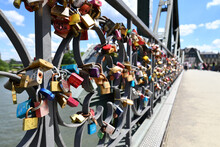 Many Love Padlocks Attached To...
