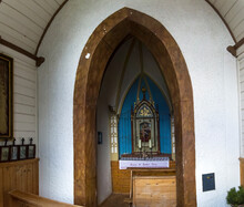 The Interior Of A Small Chapel