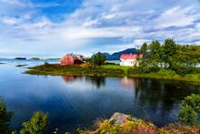 Norwegian Coast Landscape With...