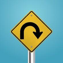 U-turn Signboard