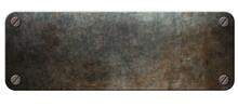 Old Steel Plaque On Rust Metal...