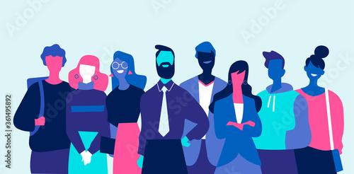 Fototapeta Squadra di professionisti di successo fatta di uomini e donne obraz